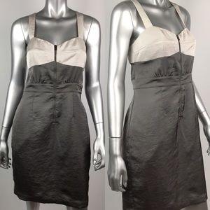 Club Monaco Sheath Dress 6 Olive Green Beige Lined